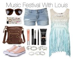 """""""Music Festival With Louis"""" by onedirection-outfits1d ❤ liked on Polyvore featuring Zara, Converse, Charlotte Russe, Smashbox, Le Métier de Beauté, Witchery, NARS Cosmetics, Red Herring, women's clothing and women's fashion"""