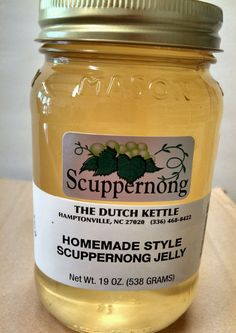 SCUPPERNONG JELLY Dutch Kettle Homemade Style Jelly BEST IN THE SOUTH 19oz Pint #DutchKettle