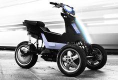 Le scooter électrique à 3 roues de Sway est innovant à tous les niveaux