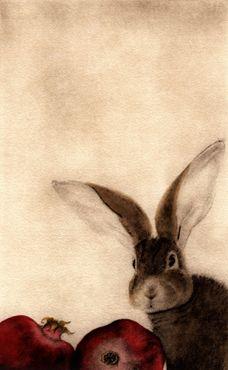 C. C. Barton ~ Lapin aux Grenades (Rabbit with Pomegranates)