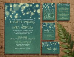 Rustic Garden Light Wedding Invitation Set/Suite by InvitationSnob