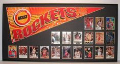 Houston Rockets Basketball Pennant & Cards by FanaticFrames Houston Rockets Basketball, Basketball Rim, Basketball Playoffs, Nike Basketball Shorts, Basketball Equipment, Basketball Floor, High School Basketball, Basketball Pictures, Basketball Legends