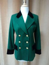 ESCADA Kelly Green and Black Velvet Jacket Size 34!!