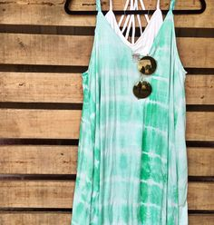 Trendy tie dye dresses are a must have for any Summer outfit! We love layering them over bralettes for a cute casual Summer outfit option!