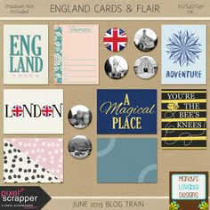 Free Journal Cards and Flair from Amanda Brown {on Facebook} June 2015 Pixel Scrapper Blog Train