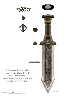 Balin's Knife Art Concept, by Paul Tobin for The Hobbit movies.