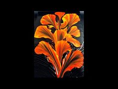 String Pulling Fluid Art - Acrylic Pouring String Pulling Abstract Painting - 🔥 Fire Flower 🔥 - YouTube Pour Painting, Oil Painting Abstract, Watercolor Artists, Painting Art, Watercolor Painting, Acrylic Pouring Art, Acrylic Art, Fire Flower, Art Abstrait