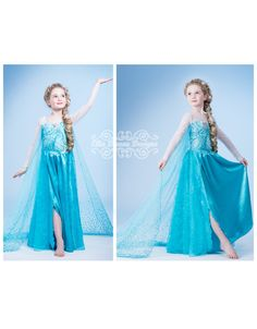I wish I could sew these costumes for the girls myself. Frozen Custom Elsa Costume on Etsy, $280.00