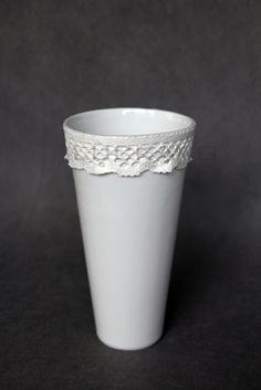 Baroque I.- porcelain decoration by lace Lace Vase, Baroque, Porcelain, Pure Products, Elegant, Luxury, Decoration, Tableware, Home Decor