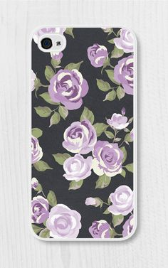 Purple Floral iPhone Case iPhone 4 Case iPhone 4s by fieldtrip -  this is so cool