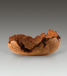 Natural Edge Wood Burl Bowl by FourandaQuarter on Etsy, $350.00