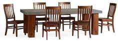 Chunky Leg Dining Table Set
