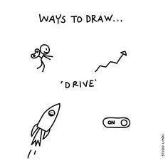 Full speed ahead.  Word of day 91: drive. . . #365waystodrawfestival #drive #illustratie #illustration #tekening #waystodraw #icons #sketchnote #visualnote #graphicrecording #getekendverslag #getekendenotulen #zakelijktekenen #visuelenotulen #visueelnotuleren #tekening #studiolimon #haarlem #amsterdam #denbosch #dailydrawing