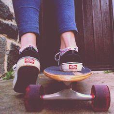 Wear my Vans & ride my new Long Board <3