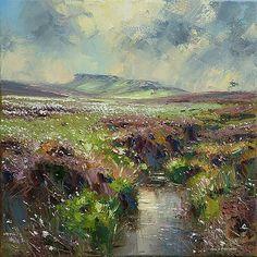 "Rex Preston - ""Cotton Grass, Hallam Moors"""