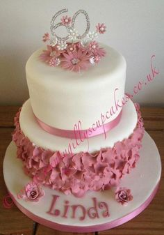 I had free reign on this cake for a friends mum. The tiers are vanilla sponge with jam and buttercream. All the petals are individually made and glued which took some time! In hindsight I would have made a few changes but every cakes a learning...