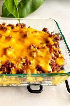"""Keto Cheeseburger Casserole 
