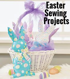 DIY Adorable bunnies perfect to give as gifts for Easter! The little ones will love these rabbit stuffed animals! | Easter Sewing Projects | Easter DIY Projects