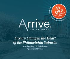 Are you looking for an apartment community in the heart of the Philadelphia suburbs? Look no further! 🌇 We are currently offering 1/2 off your first month's rent FREE! Contact us today and be our neighbor! Two Bedroom Floor Plan, Valley Forge, Apartment Communities, 2 Bedroom Apartment, In The Heart, Luxury Apartments, Luxury Living, Philadelphia, Community