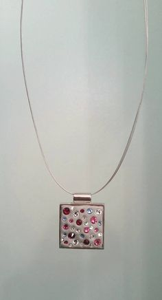 Necklace Pendant Swarovski Crystals Epoxy by LilHanksCreations