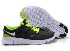 best loved 9092d 63889 Chaussure Nike Free Run 2 Homme Noir Vert Unisexe Nike Air Jordan Retro,  Nike Air