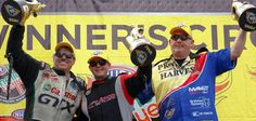 CONGRATS: After a weekend of exciting NHRA racing at Bristol Dragway, Steve Torrence - Top Fuel Pilot, John Force and Rodger Brogdon earned a Wally on Father's Day!