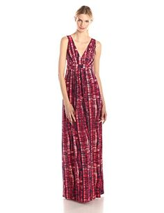 Tart Collections Womens Chloe Printed Empire Maxi Dress Hot Tie Dye XSmall >>> You can find more details by visiting the image link.(This is an Amazon affiliate link and I receive a commission for the sales)