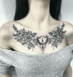 Your Ultimate Tattoo Pain Chart Bible for Tattoos – Tats 'n' Rings - tattoo tatuagem Chest Tattoos For Women, Chest Piece Tattoos, Pieces Tattoo, Chest Tattoo Female Upper, Back Piece Tattoo, Stomach Tattoos Women, Chest Tattoo Pain, Side Of Neck Tattoo, Chest Tattoo Flowers