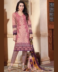 Multicolor printed pant style suit   1. Multicolor lawn cotton suit2. Comes with matching bottom and dupatta3. Can be stitched upto bust size 42 inches