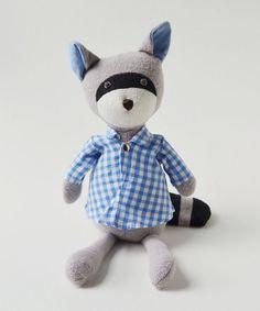 Hazel Village-Max Raccoon in Gingham Shirt