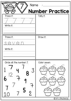 """Free Number 1-20 Practice. This product is great for pre-k, kindergarten and first grade students. It will help children to master numbers from 1 to 20 in a many different ways. Children will learn numeral tracing, writing, coloring, drawing, tallying, finger counting, number words, finding, number sequencing, and adding. Also every time they finish a worksheet, they will be rewarded with """"I know the number"""" bracelet."""