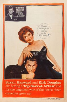 Top Secret Affair (1957) starring Susan Hayward & Kirk Douglas