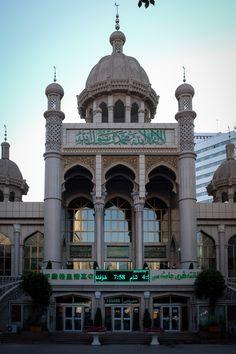 Khantegri Mosque in Urumqi, Xinjiang, China. The mosque was originally built in 1919 but completed refurbishment in 2014
