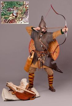 Slavic Horseback Archer, X cent. Viking Reenactment, Medieval Costume, Medieval Armor, Norman Knight, Viking Pattern, Ottonian, Larp, Military Costumes, Fantasy Warrior