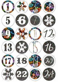 printable advent calendar, free christmas printable.
