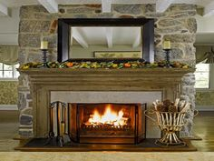 Mirror above Fireplace Mantle