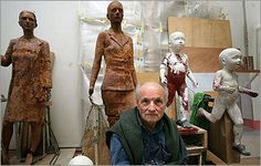Antonio López García (Spain a Spanish painter and sculptor thanks so much for many nice and great art works photos. Sculpture Clay, Sculptures, Art Critique, Collage, Spanish Painters, 3d Photo, Painting Studio, Image Makers, Artist At Work