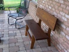 The P Style  Knotty Pine Wood Bench 4 Foot