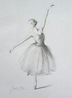 Ballerina Bleistiftzeichnung