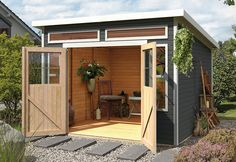 Gartenhaus »Lauenburg« naturbelassen, 19 mm Wandstärke – OTTO–Online–Shop