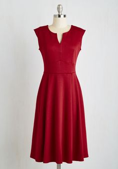 Predilect Your Thoughts Dress. Take this opportunity to reflect on your wardrobe. #red #modcloth