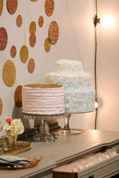 rock candy cake/ glitter cake