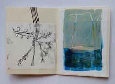 """book for V Cathy Cullis Jan 2016 "" Artist Journal, Artist Sketchbook, Sketchbook Pages, Sketch 2, Visual Diary, Sketchbook Inspiration, Book Show, Bookbinding, Art Techniques"