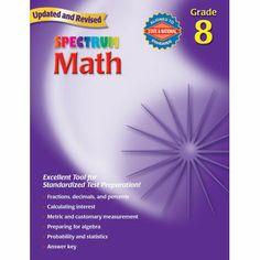 Spectrum® Math Workbook, Grade 8