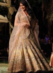Go For The Ultimate Style With This Beige Brown Bridal Lehnga