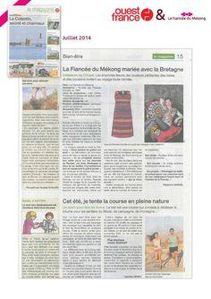 5b7d2a4a0ff4 Ouest France - Juillet 14 - La Fiancée du Mékong mariée avec la Bretagne -  www