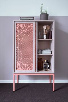 The Mashrabeya cabinet by Nina Mair Architecture + Design adds an air of mystery to your belongings with its patterned sliding doors