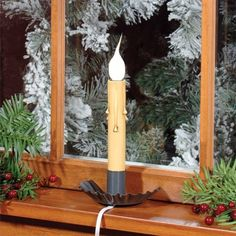 Tin Window Lights, Welcome Lights, Window Candles