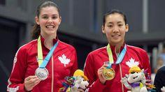 July 16 - Badminton - Women's - Singles. Canada's Rachel Honderich - Silver. Canada's Michelle Li - Gold.