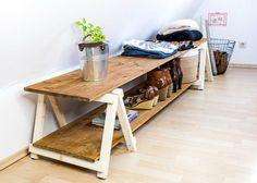 DIY Regal selber bauen: Anleitung für ein DIY Regal mit selbst gefertigten Mini Klappböcken - günstig und einfach zum schicken, selbst gemachten Regal